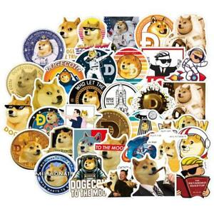 50pcs Dogecoin Stickers Cool Space Astronaut Doge Decal Sticker Toy waterproof