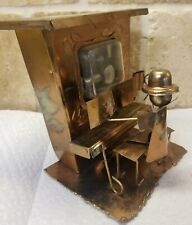 Wind-Up Price Music Box Metal Copper Piano Player Entertainer The Sting Vtg