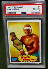 PSA 6 EX/MT 1985 Topps HULK HOGAN Rookie Wrestling Card #1 RC WWF