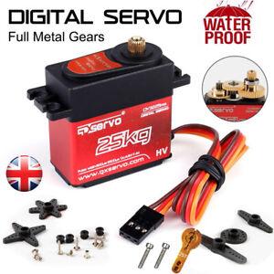 25KG Metal Steering Digital Waterproof Servo DS3225mg High Torque RC Car Boat UK