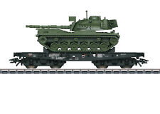 """Märklin H0 48799 Schwerlastwagen der DB """"beladen mit Kampfpanzer M 48"""" NEU + OVP"""