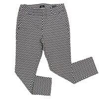 LOFT MARISA Skinny Pant Women's Size 2P Flat-Front Black White Mosaic Ankle Fit