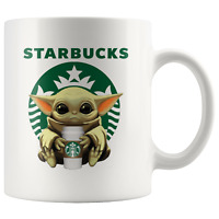 STARBUCKS Baby Yoda Funny Yoda Starbucks Coffee Mug Gift|Star Wars Yoda Fan Gift