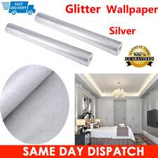 Silver 3d Modern Glitter Effect Feature Wallpaper Wall Paper Roll Moisture-proof