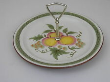 """Vintage Stangl Apple Delight 10"""" Round Serving Plate w/Handle"""
