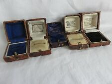 Antique Victorian Edwardian 5  Ring Boxes Jewellery Display Rare Collectable Lot