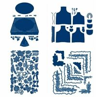 Layered Apron Big Flower Pizza Box Metal Cutting Dies Stencils DIY Scrapbooking