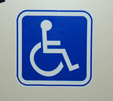 5 handicap sticker parking sign disabled wheelchair Decal logo 3 x 3 symbol