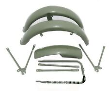 Matchless G3l Ajs 16m Military Model Green Painted Mudguard Set With Stays S2u