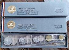 FRENCH SOMALILAND & POLYNESIA 1965  FDC COINS SET - Monnaie de Paris- 9pcs total