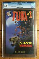 Tuki #1 Save The Humans Cartoon Books Jeff Smith CGC 9.6