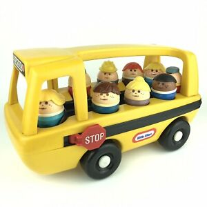 Little Tikes School Bus & 9 Chunky Toddle Tots Riders Figures & Stop Sign