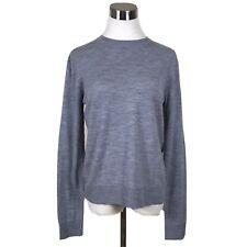 Zadig & Voltaire Gray Crew Sweater, Lightweight Wool Sequin Patch Elbows Sz M