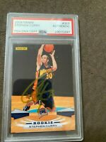 2009 Panini Stephen Curry Signed Rookie Card PSA DNA #357 Warriors Steph Auto