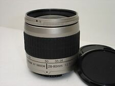 ONE Nikon AF NIKKOR 28-80mm f/3.3-5.6 AF G Lens with caps  Works good!
