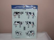 Vintage 1989 Decoral Handpainted Waterslide Decals Cows A-88 New Old Stock