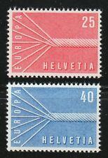 Switzerland 1957 MNH Mi 646-647 Sc 363-364 European unity.Europa Cept