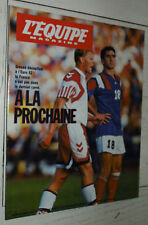 EQUIPE MAGAZINE N°545 1992 EURO 92 FOOTBALL BOLI FRANCE-DANEMARK RODEO PHARAONS