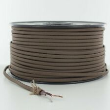 BROWN ~ 2 WIRE ~ Rayon Covered ~ Antique Vintage Style Cloth Lamp Cord ~ 25 Feet
