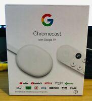 Google Chromecast 4K with Google TV Snow - 4K HDR Streaming @ 60fps