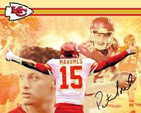 PATRICK MAHOMES Facsimile Signed 8x10 Photo Autographed Kansas City Chiefs Pat