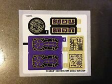 New Lego Ninjago Replacement Sticker Sheet from set 70749