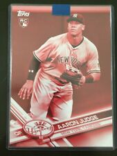 # 1/5 TOPPS 5 X 7 AARON JUDGE RED ROOKIE CARD NUMBERED 1/5 ONE OF FIVE ( 01/05 )