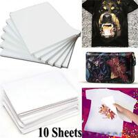10pcs A4 Transferpapier zum Aufbügeln für helles und dunkles Stoff-T-Shirt