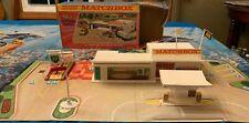 Rare 1970 Matchbox Lesney G-1 BP Service Station Superset w/Ramp & Original Box