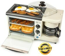 Breakfast Coffee Maker Multi Function Oven Toaster Non Stick Griddle Food Warmer