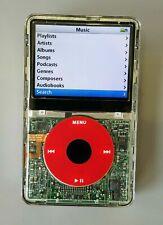 Apple iPod Classic 7. Generation 160GB • Transparent / Rot • Generalüberholt