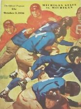 Oct. 3, 1936 University of Michigan vs. MSU Football Program ORIGINAL!