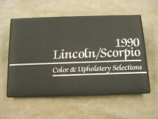 Lincoln Dealers Product Guide 1990 Color + Trim Book