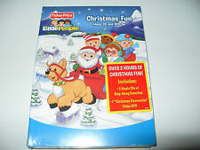 Little People Christmas Fun Fisher Price Sing Along Classics 2 cd + dvd 2009 New