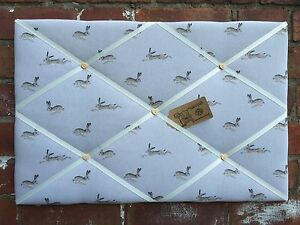Pin/Memo/Notice Board Sophie Allport Hare Fabric Made to Order Choice SML-XXL
