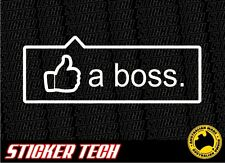 THUMBS UP LIKE A BOSS STICKER DECAL SUITS FACEBOOK JDM V8 TURBO SHOW CAR RAT ROD