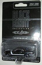 1970 Black Mustang Boss 302 Black Bandit Collection Johnny Lightning #d 881/2000