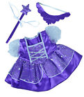 Teddy Mountain Purple Fairy Princess With Tiara & Wand Clothes to Fit Build a