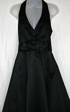 RED HERRING SPECIAL EDITION UK12 EU40 US8 NEW BLACK SATIN HALTERNECK DRESS