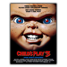 CHILD'S PLAY 3 Chucky METAL SIGN WALL PLAQUE Film Movie Advert poster art print