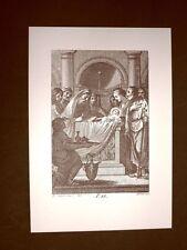 Litografia Natale Circoncisione di Gesù San Bonaventura del 1794 Ristampa