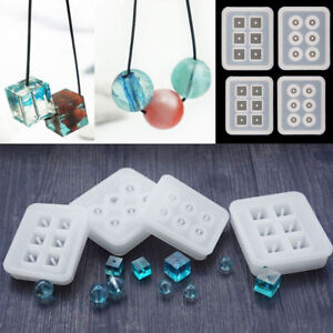 12/16mm Silicone Cube/Sphere Bead Mold Bracelet Jewelry Making Mould Resin Craft
