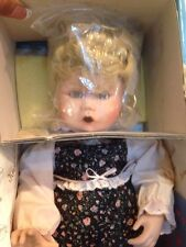 """Edwin M. Knowles Porcelain Doll """"Boo Bear and Me"""" My Closest Friend  with COA"""