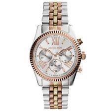 Michael Kors MK5735 Lexington Chronograph Silver Tri-Tone Womens Watch