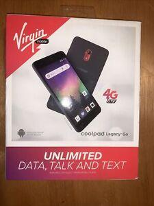 Virgin Mobile Coolpad Legacy Go 8 GB Prepaid Smartphone Black.