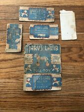 Vintage Hubley Marys Lamb Pull Toy BOX ONLY Very Rare Cardboard Box Pieces