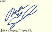 Anton Stralman Toronto Nhl Hockey Autographed Signed Index Card