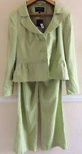 Chloe White For Autonomy Size 18 Linen Trouser Suit Pistachio Green RRP £80