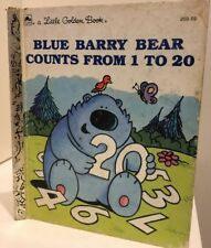 Little Golden Book HC Blue Barry Bear counts from 1 to 20 FREE POST 1991 #209-59