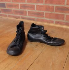 Converse All Star Hi Black Leather Light Trainers UK 4.5 507232